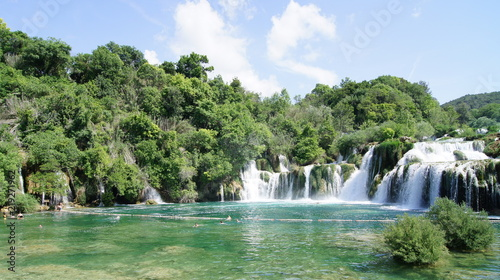 Foto op Canvas Watervallen parc de KRKA