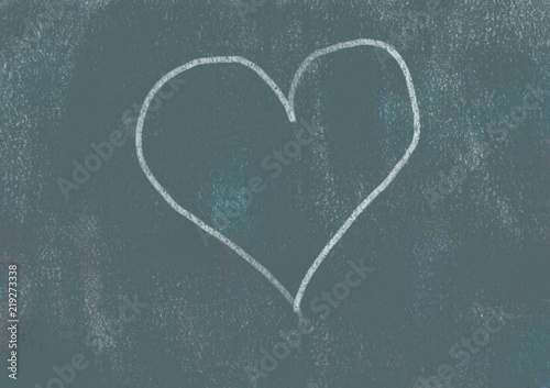 Photo Stands Personal Black board and chalk concepts series, simple heart
