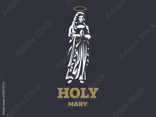 Fotografia  The holy virgin Mary with a halo above her head