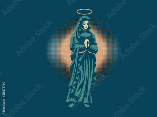 Fényképezés The holy virgin Mary with a halo above her head