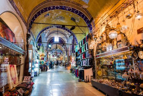 Photo ISTANBUL, TURKEY - JULY 10, 2017: Grand Bazaar  in Istanbul, Turkey