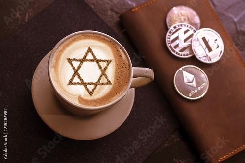Foto op Plexiglas a cup of coffee in Israel