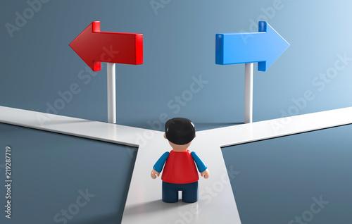 Valokuva  3D Figur Richtung wählen