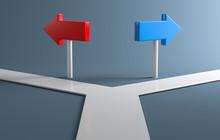 3D Weg Richtung Wählen