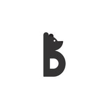 Simple Letter B Bear Logo Icon