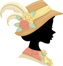 Silhouette Victorian Girl Hat ...