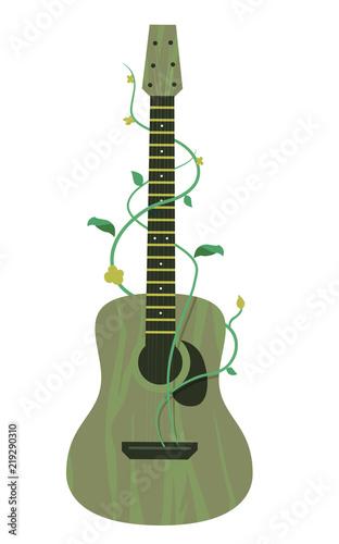 Guitar Organic Music Illustration Canvas Print