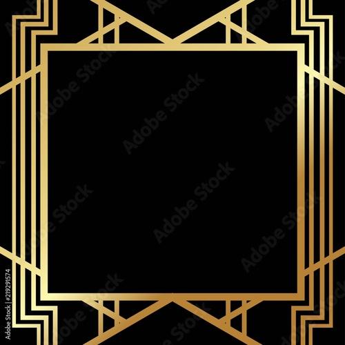 Fotografía Art Deco Gatsby inspired, Roaring 20s style frame template vector