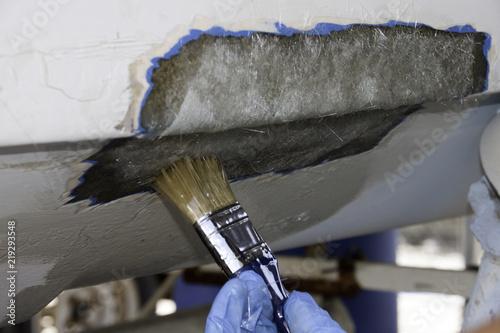 Polyester boat repair Wallpaper Mural