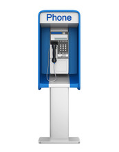 Payphone Booth Isolated