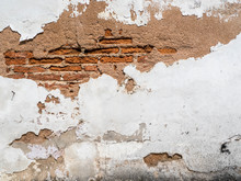 Grunge Background, Red Brick Wall Texture Bright Plaster Wall, Background For Your Concept Or Project.