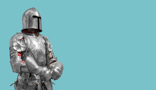 Medieval Knight In Shiny Metal...