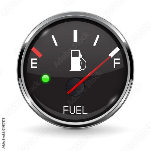 Canvas Print Fuel gauge