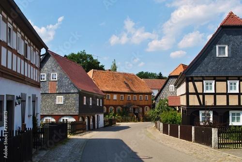 Fototapeta Obercunnersdorf - wieś łużycka obraz