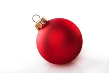 Red Bauble Isolated On White