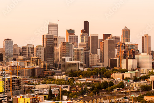 In de dag Los Angeles Downtown Seattle, Washington State, USA