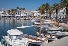 Fornells Harbour In Summertime