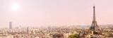 Fototapeta Paryż - panoramic view of paris with the eiffel tour at sunrise