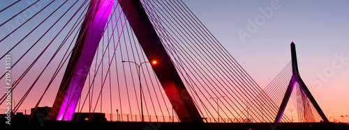 Staande foto Brug Zakim Bunker in Boston, Massachusetts, USA