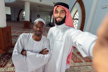 Two Arabis Young Men Love Frie...