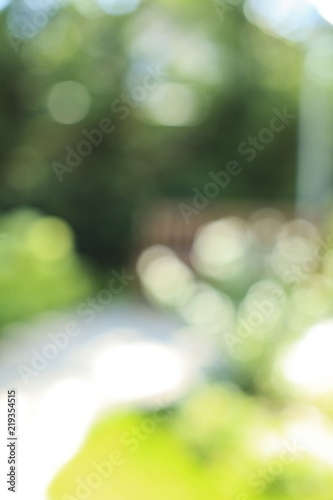 Photo  Blurred photo of the outside - bokeh style