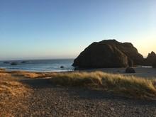 Rocky Cliff On The Oregon Coast