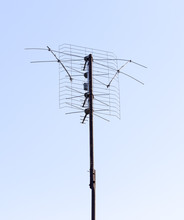 TV Antenna Aerial On The Roof ...