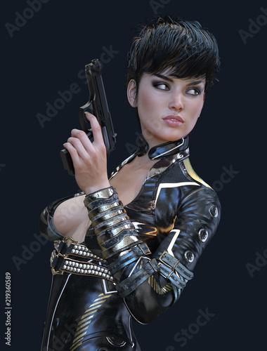 Photo  Sexy Female Super Spy