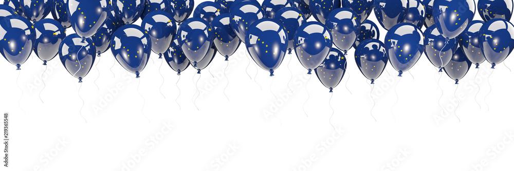 Fototapeta Balloons frame with flag of alaska. United states local flags