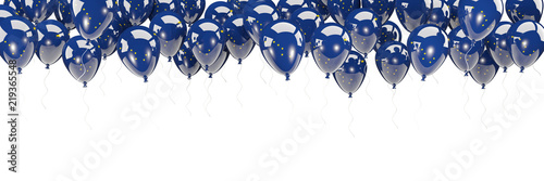 Fotografía  Balloons frame with flag of alaska. United states local flags