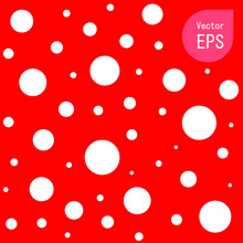 Seamless Texture With Small Red Dot. Hand Drawn Graphic Print. Red Polka Dot Pattern Background Vector Illustration
