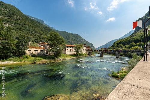 Fotomural River Brenta in Valsugana - Carpane Valstagna, Veneto, Italy