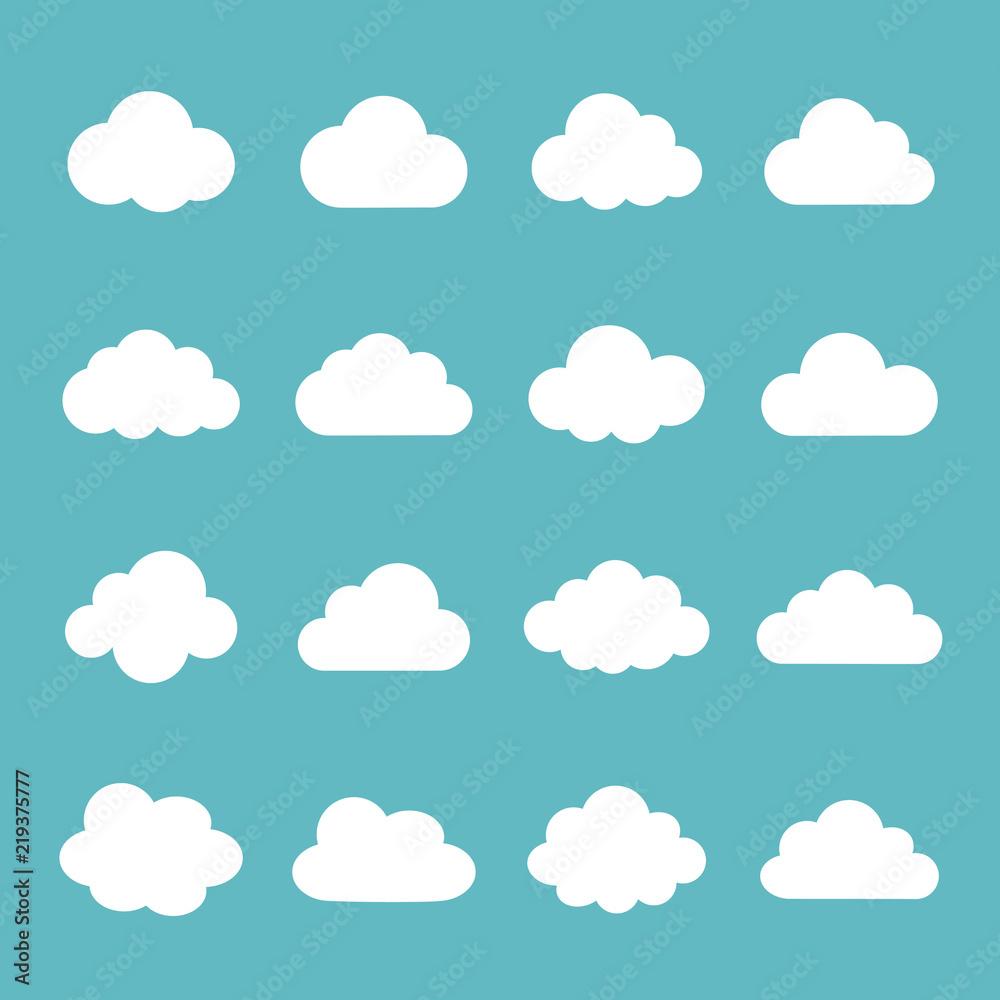 Fototapeta Cloud  icon set