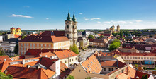 Panoramic View To The Old Town...