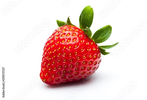 Ripe Strawberry Isolated on White