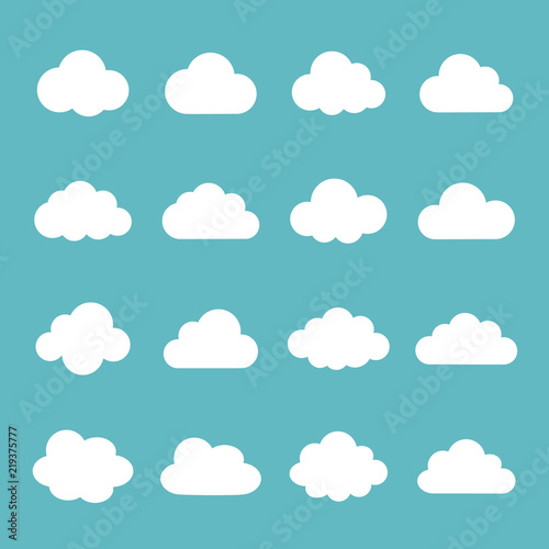 Fototapeta Cloud  icon set obraz