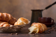 Fresh And Tasty Croissant  And...