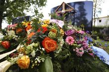 Frisches Grab Auf Einem Friedhof