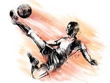 Giocatore Di Calcio Che Tira L...