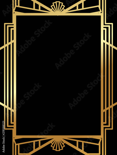 Photo  Art Deco Gatsby inspired, Roaring 20s style frame template vector