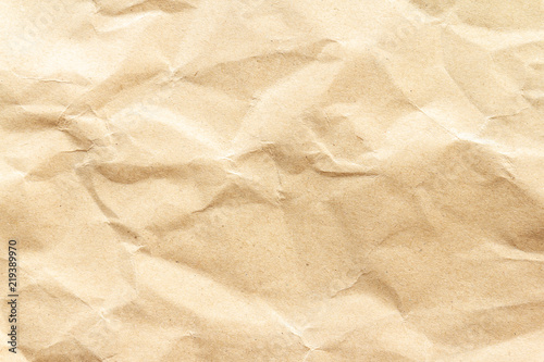 Fototapeta  Brown wrinkle recycle paper background