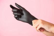 Rubber Black Glove