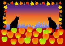 リンゴ好きな猫が街を...