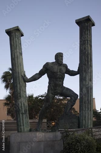 statue of ulises in ceuta