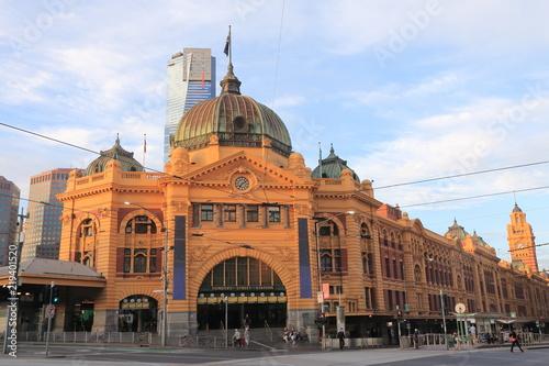 Poster Oceanië Melbourne Flinders Street Train Station Australia