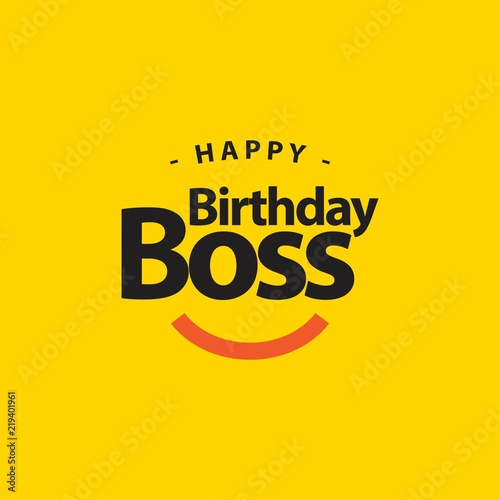 Happy Birthday Boss Vector Template Design Illustration Buy This