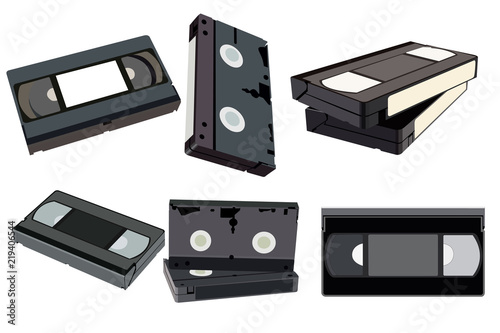 The set of videotapes from different sides Slika na platnu