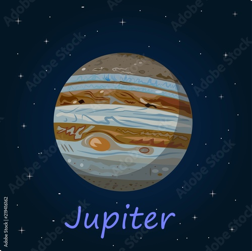 Fotografia  Jupiter is the fifth planet from the Sun and the largest in the Solar System