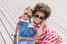 Happy Little Girlfriends In A ...