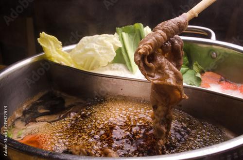 beef slice set in Shabu shabu